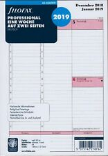 Filofax A5 Multifit 2019 professional 1Woche/2Seiten Kalender Deutsch 19-68553