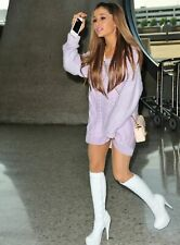 Ariana Grande Long White Boots 8x10 Picture Celebrity Print