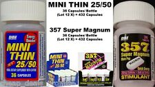 DBI (Mini Thin 25/50 36 Capsule + 357 Super Magnum 36 Tablets) X 12 Bottles Each