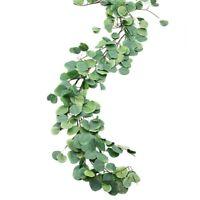 2pcs Artificial Eucalyptus leaves Rattan Vine Wedding Greenery Home Wall Decor