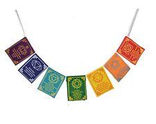 Tibetan Seven Chakra Healing Prayer Flags- High Quality - Buy 2 get 1 free