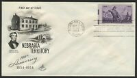 #1060 3c Nebraska Territory, Art Craft-Addressed FDC **ANY 4=FREE SHIPPING**