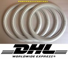 15.75 inch White Wall Portawall Tire insert trim set x4 Flapper Sidewall Topper