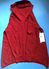 Calvin Klein Jeans Long-sleeve Cowl-neck Sweater Cherry Red L