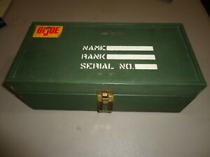 Old Vintage G I Joe Action Figure Toy Green Wood Storage Foot Locker Case Box