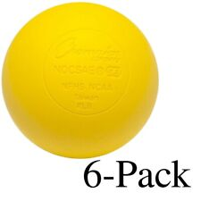Champion Sports Official Size Rubber Lacrosse Ball, Yellow (Pack of 6)