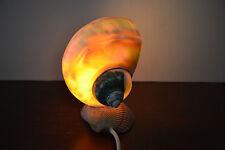 WHITE TURBO SEA SHELL TABLE LAMP NIGHT LIGHT 7493