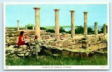 POSTCARD CYPRUS TUCK SERIES #26 TEMPLE OF APOLLO IMAGE 2