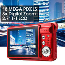 "2.7"" HD 720P 18MP 8x Zoom TFT LCD Digital Camera Video Camcorder DV"