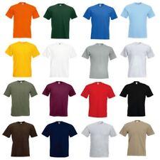 3 Or 5 Pack men's 100% cotton Plain Fruit of the Loom  Super Premium T-Shirt New