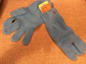 BNWT New Penguin Men's Light Blue Gloves - 100% Cotton