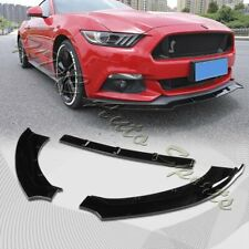 For 2015-2017 Ford Mustang Painted Black Front Bumper Body Kit Spoiler Lip 3PCS