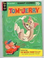 Gold Key TOM AND JERRY The Mouse from T.R.A.P. #1 - VG July 1966 vintage comic