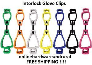 Interlock Glove Clip Safety Clip Glove Keeper - FREE SHIPPING
