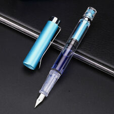 Wing Sung 3008 Transparent Fountain Pen Silver Version Extra Fine Nib 9 Colors