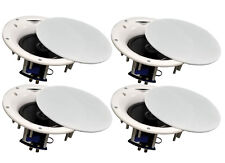 "4 Pack - TDX 6.5"" 2-Way Ceiling Wall Home Theater Speaker Flush Mount White New"