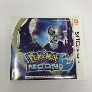 Pokemon Moon (Nintendo 3DS, 2016) Complete with case and manual!