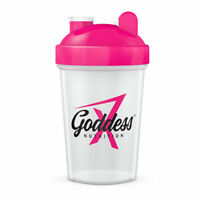 Shaker Water Drink Bottle Cup Gym Goddess Nutrition Protein Powder BCAA Mixer UK