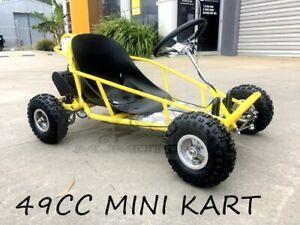 49cc Go Kart 4 Wheeler Kids 2 Stroke Buggy Quad Atv Dirt Bik Mini New Model Yelo