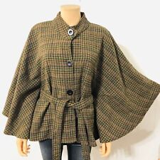 Gold Flava Women's COLORFUL Woven 14 Cape Button Up Jacket Poncho Belt Batwing