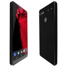 Skinomi Black Carbon Fiber Skin+Clear Screen Protector for Essential (PH-1)