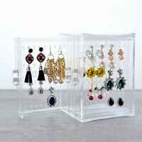 Acrylic Jewelry Box Earring Display Necklace Holder Storage Cabinet Makup