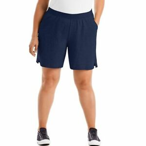 Just My Size Women's Cotton Jersey Pull-On Shorts w/Pockets - 4 COLORS - 1XL-5XL