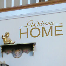 Welcome Home Quote Wall Stickers! Transfer Graphic Decal Decor Stencils Hallway