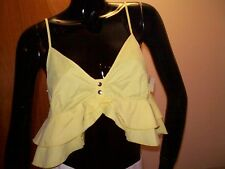 Women's H&M Yellow Tiered Halter Top - Size 10 - NWT