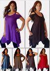 top t shirt tee short sleeve asym open shoulder M L XL OS 1X 2X 3X 4X 5X 6X SLUB
