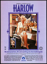 HARLOW__Original 1986 video print AD / movie promo__CARROLL BAKER__Red Buttons
