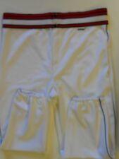 Nos Vtg 80s Athtex Men's Baseball Pants Adult Large White Red Black Usa!