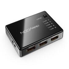 deleyCON 5 Port HDMI Switch Umschalter HDTV 1080p FULL HD 5 zu 1 HDMI Verteiler