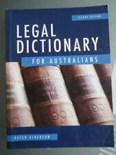 LEGAL DICTIONARY FOR AUSTRALIANS by PETER ALDERSON - SCOVER - GC
