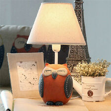 Owl Table Light Lamp Children Study Desktop Cartoon Decoration Resin Bedroom
