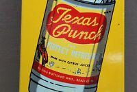 "10"" TEXAS PUNCH SODA POP  DOOR PUSH  PORCELAIN SIGN GAS OIL CAR FARM 66"