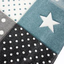 Children Rug Boys Bedroom Carpet Blue Grey Nursery Rugs Stars Soft Play Room Mat 80x150cm