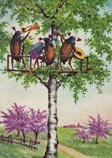 BEETLES, BUGS, INSECTS, BAND IN TREE, HORN, ACCORDION, MANDOLIN, FRIDGE MAGNET