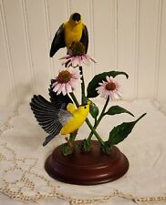 Vintage Danbury Mint Yellow Finch Figurine Sculpture By Bob Guge Summer Song