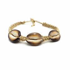 Cowrie Shell Hemp Choker Necklace Boho Surfer Beach Jewelry Tiger Cowrie