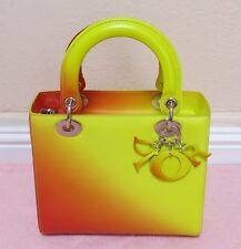 New $5,400 Lady Dior Cruise Yellow Orange Gradient Calfskin Tote bag