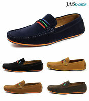 Mens Smart Slip On Casual Boat Shoes Italian Designer Loafers Driving Moccasin