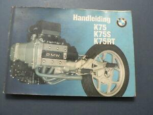 BMW K75, K75S, K75RT HANDLEIDING 1993 MANUAL MOTORRAD