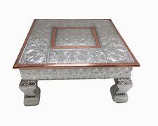 12x12 Hindu Wedding Bajot Bajath Puja Chowki Low Small Table Camping Table