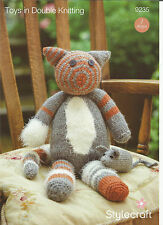 STYLECRAFT ESKIMO KISSES & ALPACA TOY CAT & MOUSE DOUBLE,DOUBLE KNITTING PATTERN