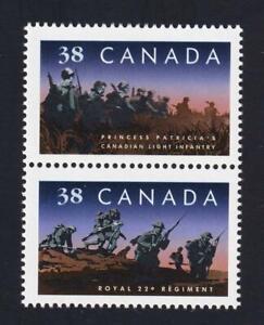 Canada 1989 Infantry Regiments, MNH se-tenant pair sc#1250a