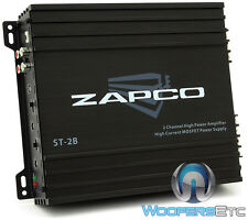 ZAPCO ST-2B AMP 2-CHANNEL 200W RMS COMPONENT SPEAKERS CLASS AB CAR AMPLIFIER NEW