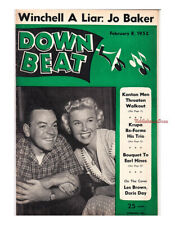 Down Beat 1952 Earl Hines Gene Krupa Josephine Baker Harry James Lee Konitz