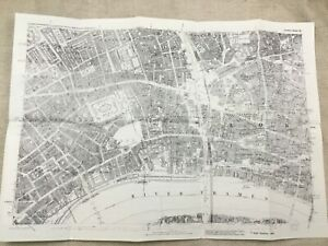 Antique London Map City Streets Holborn The Strand Victorian England 1873