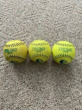 Lot Of 3- Trump Stote- Usssa Classic M Softballs